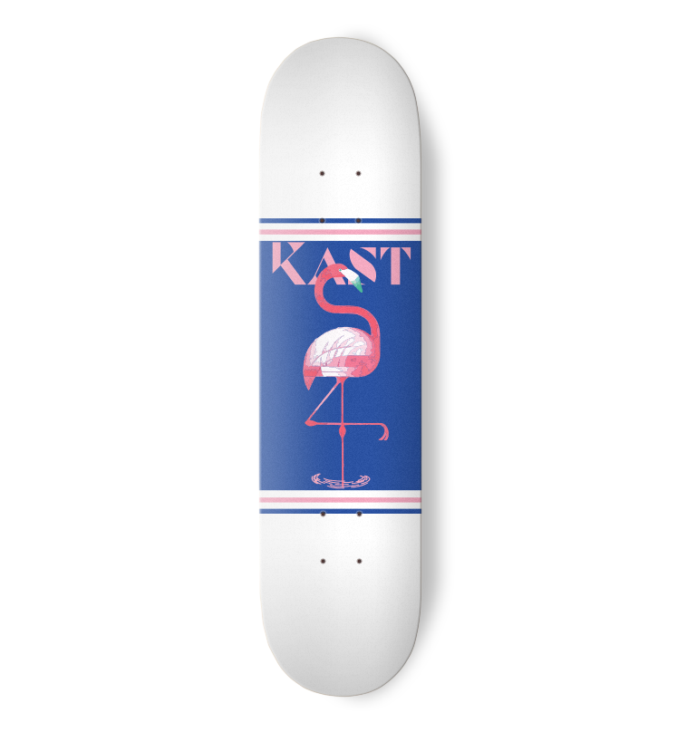 Kast Skateboards - White Flamingo