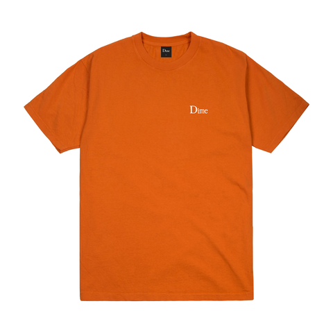 Dime MTL - Classic Small Logo T-Shirt Burnt Orange