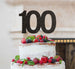 100th Birthday Cake Topper Glitter Card Black
