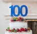 100th Birthday Cake Topper - Glitter Card Dark Blue