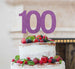 100th Birthday Cake Topper Glitter Card Light Purple