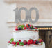 100th Birthday Cake Topper Glitter Card Silver