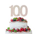 100th Birthday Cake Topper Glitter Card White