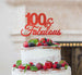 100 & Fabulous Cake Topper 100th Birthday Glitter Card Red