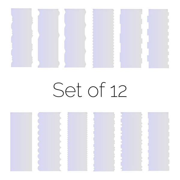 Set of 12 Cake Scrapers