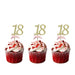 18th glitter cupcake toppers gold and light pink
