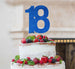 18th Birthday Cake Topper - Glitter Card Dark Blue