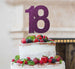 18th Birthday Cake Topper Glitter Card Dark Purple