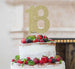 18th Birthday Cake Topper Glitter Card Gold
