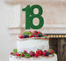 18th Birthday Cake Topper Glitter Card Green