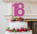18th Birthday Cake Topper Glitter Card Hot Pink