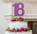 18th Birthday Cake Topper Glitter Card Light Purple