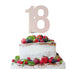 18th Birthday Cake Topper Glitter Card White