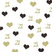 21st Birthday Glitter Heart Table Confetti Gold and Black