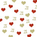 21st Birthday Glitter Heart Table Confetti Gold and Red