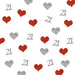 21st Birthday Glitter Heart Table Confetti Silver and Red