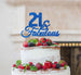 21 & Fabulous Cake Topper 21st Birthday Glitter Card Dark Blue