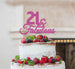 21 & Fabulous Cake Topper 21st Birthday Glitter Card Hot Pink