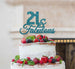 21 & Fabulous Cake Topper 21st Birthday Glitter Card Light Blue
