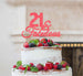 21 & Fabulous Cake Topper 21st Birthday Glitter Card Light Pink