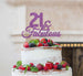 21 & Fabulous Cake Topper 21st Birthday Glitter Card Light Purple