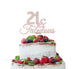 21 & Fabulous Cake Topper 21st Birthday Glitter Card White