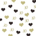 30th Birthday Glitter Table Confetti Hearts Gold and Black