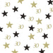 30th Birthday Glitter Table Confetti Star Gold and Black