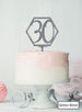 Hexagon 30th Birthday Cake Topper Premium 3mm Acrylic Glitter Silver