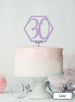 Hexagon 30th Birthday Cake Topper Premium 3mm Acrylic Lilac