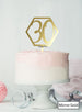 Hexagon 30th Birthday Cake Topper Premium 3mm Acrylic Mirror Gold