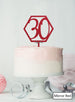 Hexagon 30th Birthday Cake Topper Premium 3mm Acrylic Mirror Red