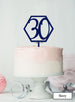 Hexagon 30th Birthday Cake Topper Premium 3mm Acrylic Navy