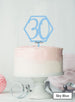 Hexagon 30th Birthday Cake Topper Premium 3mm Acrylic Sky Blue