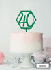 Hexagon 40th Birthday Cake Topper Premium 3mm Acrylic Green