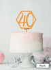 Hexagon 40th Birthday Cake Topper Premium 3mm Acrylic Peach