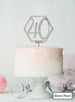 Hexagon 40th Birthday Cake Topper Premium 3mm Acrylic Silver Pearl Effect