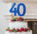 40th Birthday Cake Topper - Glitter Card Dark Blue