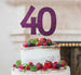 40th Birthday Cake Topper Glitter Card Dark Purple