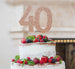 40th Birthday Cake Topper Glitter Card Rose Gold