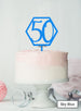 Hexagon 50th Birthday Cake Topper Premium 3mm Acrylic Sky Blue
