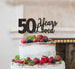 50 Years Loved Cake Topper 50th Birthday Glitter Card Black