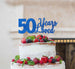 50 Years Loved Cake Topper 50th Birthday Glitter Card Dark Blue