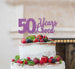 50 Years Loved Cake Topper 50th Birthday Glitter Card Light Purple
