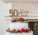 50 Years Loved Cake Topper 50th Birthday Glitter Card Rose Gold