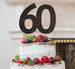 60th Birthday Cake Topper Glitter Card Black