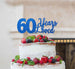 60 Years Loved Cake Topper 60th Birthday Glitter Card Dark Blue