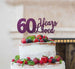 60 Years Loved Cake Topper 60th Birthday Glitter Card Dark Purple