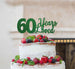 60 Years Loved Cake Topper 60th Birthday Glitter Card Green