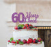 60 Years Loved Cake Topper 60th Birthday Glitter Card Light Purple